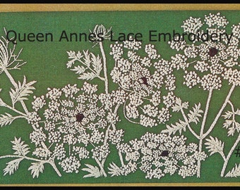 Queen Anne's Lace Embroidery Pattern Queen Ann Lace Craft #EMB12 Just Gorgeous --PDF Instant Download--Mailed Copy Also Available Inquire