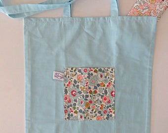 Bag cloth woman liberty foldable Tote Bag / shopping bag folding Liberty Betsy porcelain