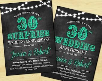 Surprise th wedding anniversary invitation th th