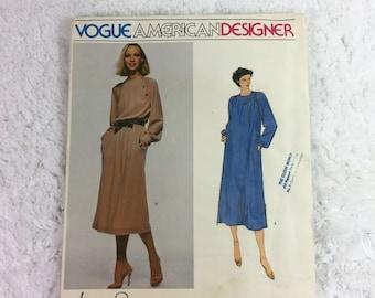 Vogue 2073 Sewing Pattern Misses' Dress Size 12 / American Designer / Jerry Silverman / Vintage Vogue / pullover dress / ladies' fashion
