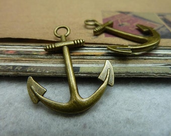 30pcs 25x31mm Antique bronze anchor charm, anchor pendant Jewelry findings  bC7050