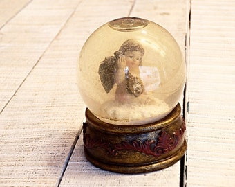 Paperweight, Vintage, Glass colektions paperweight, Unique gift, Hand maiden, Art of Glass, Rustic, Beuteful Angel