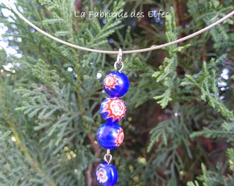 Wedding / gift necklace MILLEFIORI abacus
