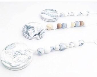 Cookie Marble biscuit Pearl Teether Clip Teething Baby Gift Shower