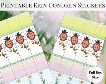 Erin Condren Planner Stickers Printable, Spring Stickers, Printable Planner Stickers, Printable Stickers