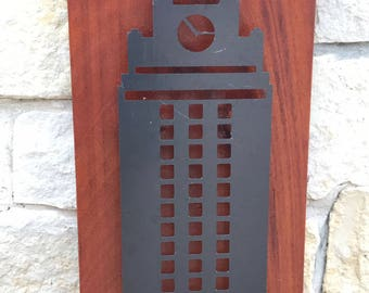 University of Texas Tower Metal Wall Art