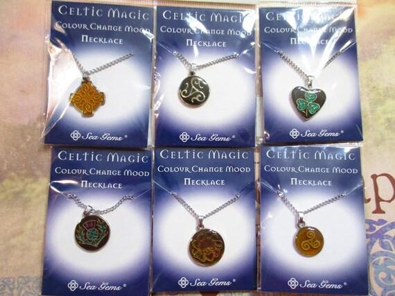 celtic magic color change mood pendant mood jewelry scottish thistle triskele claddagh irish cross destash wholesale pricing - Celtic Pictures To Colour