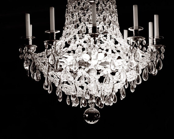 Paris decor black and white photography french chandelier like this item aloadofball Images
