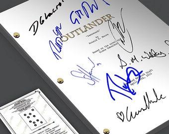 Outlander Tv Show Script Screenplay Card Gift Signed Autograph Reprint -  Caitriona Balfe, Sam Heughan, Duncan Lacroix, Tobias Menzies