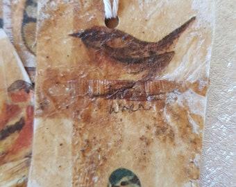 Bird tea bag tag