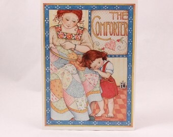 Vintage 1987 Mary Engelbreit Ink Greeting Card. Single Card with Envelope per purchase. The Comforter