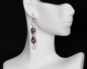 Multi Colour Sarovski Drop Earrings