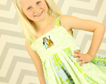 custom boutique twirl dress made with jasmine patch  size 2-6