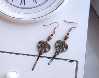 Clockhands Steampunk Earrings