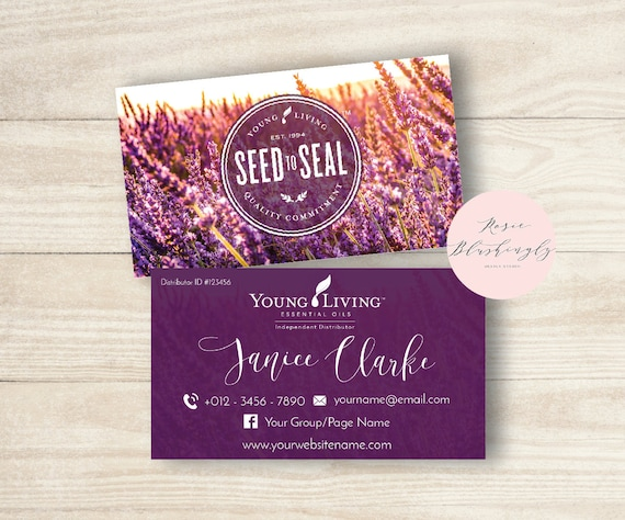 Young living essential oils business card digital design colourmoves