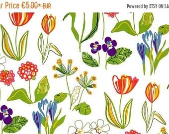 SALE Kinnamark Sarah - Swedish Cotton fabric -  Scandinavian design -  Retro  design- 59 inches (150 cm) wide