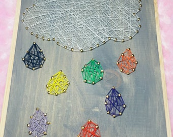 Rain Cloud String Art