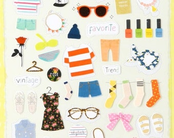 Planner Stickers [Favorite] / Stationery / Clothes Diary Stickers / Journal Stickers / Scrapbooking Stickers / Decorative Stickers