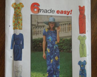 Simplicity 8070, sizes 6-10, misses, petite, womens, dress, UNCUT sewing pattern, craft supplies