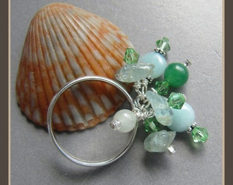 Gemstone Summer Solstice Charm Ring
