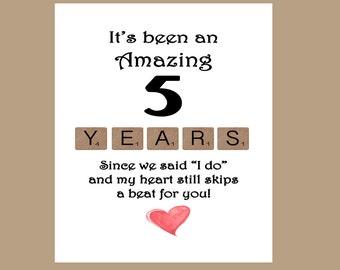 happy 5th anniversary card