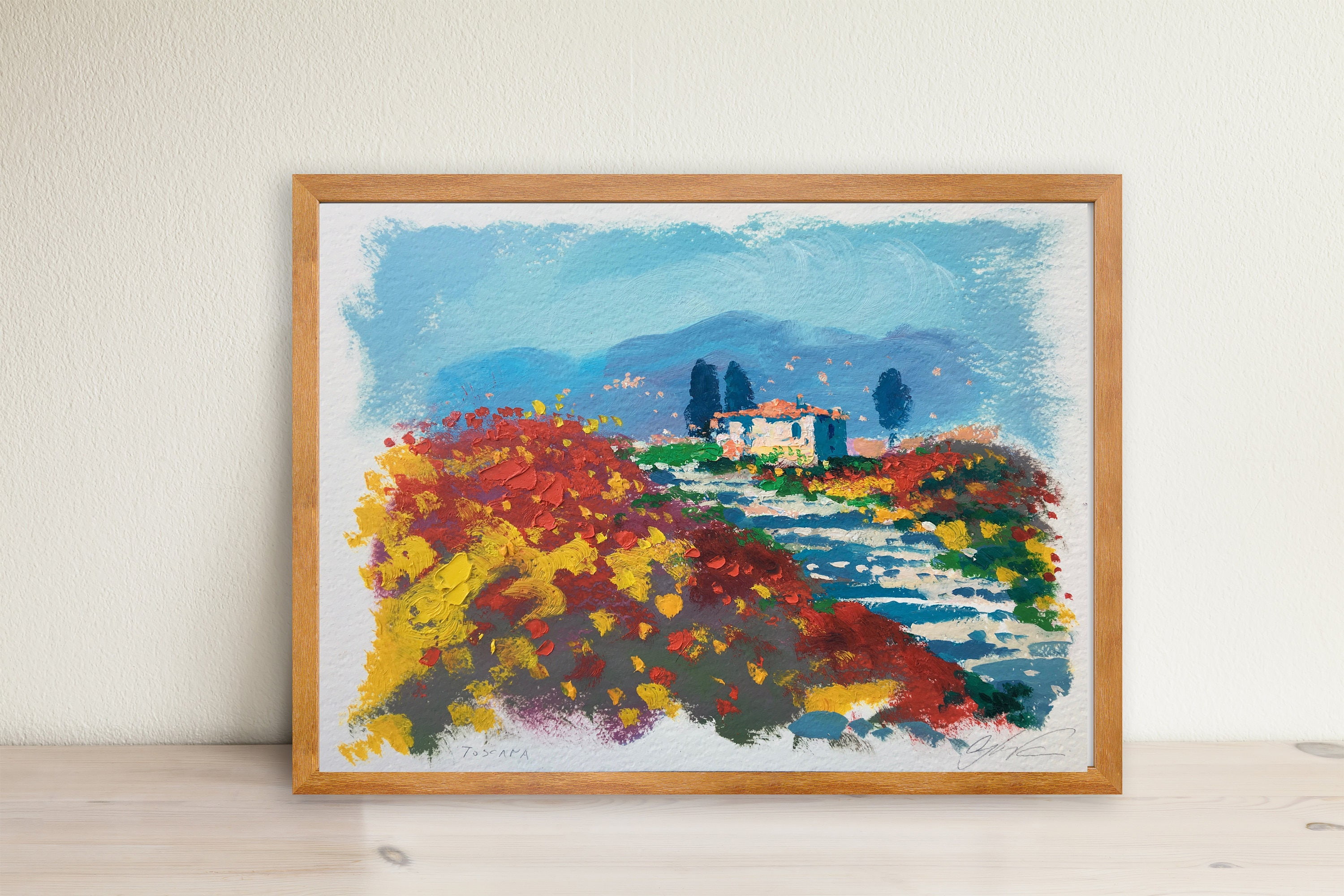 Chianti Italy Art Painting Tuscan Landscape Painting Tuscany