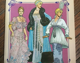 Vintage 1982 Fashion Designs of the Belle Époque Paper Dolls Book Tom Tierney
