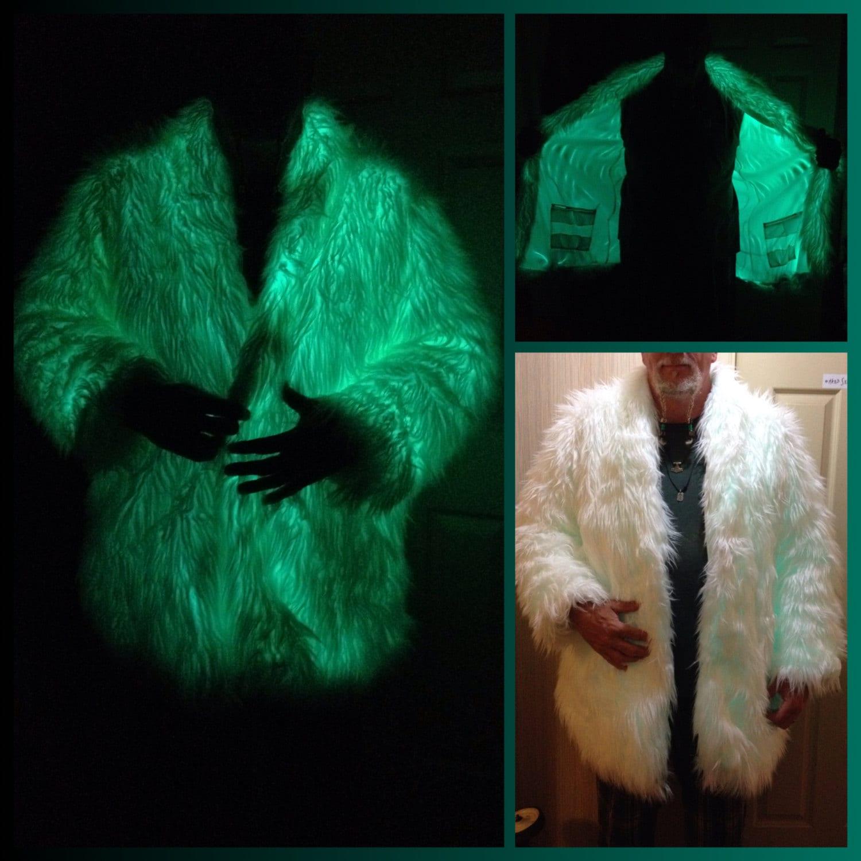GLOW Party Coat Playawear Rave Festival Light ElWire