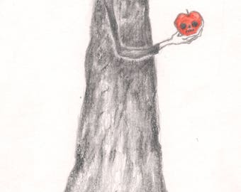 Poison apple - A4 Original - Drawlloween 2017