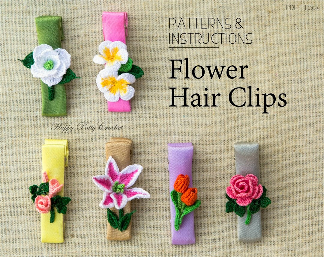 Crochet Hair Clips Pattern Collection Crochet Baby Hair Accessory