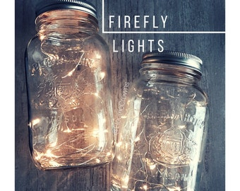 Mason Jar Fairy Lights, DIY Lanterns, Centerpieces, Rustic Wedding Decor, Fall Wedding, Rustic Party Decor, Mason Jar Lights  *No Jar
