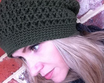 Slouchy Crochet Hat Pattern No.209 Digital Pattern PDF Download English