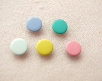 100 sets, Pastel Shade Capped Prong Snap Button Set 1, Size 16L (10 mm)
