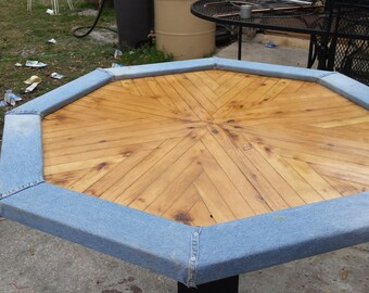 Hand made poker table