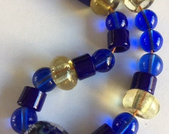 Vintage African Glass Trade Beads - 24 beads