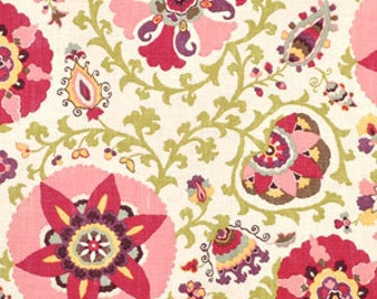 HUGE SALE,Silsila Cherry Blossom By Braemore, Fabric By The Yard