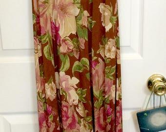 Vintage Karen Kane Maxi Dress Sz M Sz 8