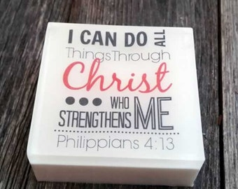 I Can Do All Things Through Christ - Peppermint Soap - Philippians 4:13