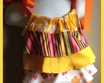 Ruffle Top  Cotton Summer RTS Ready to ship Size 18-24 Month Girl, Toddler Summer Outfit