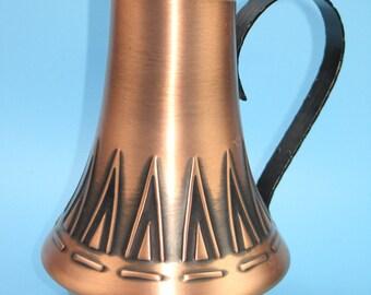 Vintage 60s copper vase
