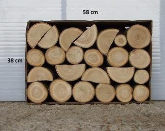 Decorative hardwood logs fine sawn mixed