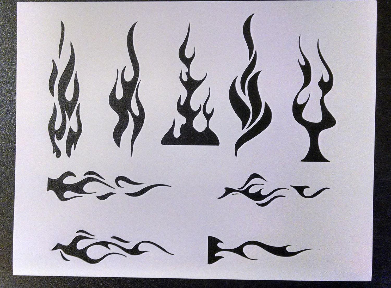 Llamas tribales llama fuego raya diplomática personalizado ...