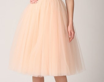 Tulle skirt, long petticoat, high quality tutu skirts, tulle tutu, tealength tutu