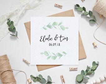 Personalised Wedding Card / Anniversary Card
