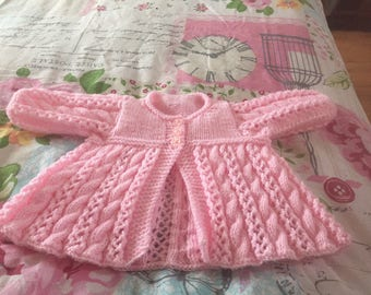 Hand knitted swing cardigan