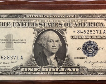1957 A One Dollar Silver Certificate Star Note