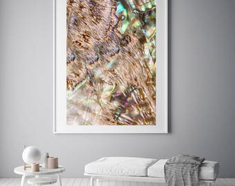 Mineral Photography - (Print #037)  Abalone -  Fine Art Print - Two Paper Choices- Mineral Geode Agate Crystal Decor