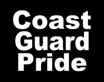 Coast Guard Pride Decal, Car Decal, Vinyl Sticker, Laptop Sticker, Coast Guard Decals, Military Decals, American, Vinyl Decal, Decals
