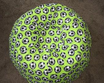 Soccer kids bean bag chair