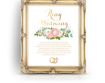 Ring Warming Ceremony Sign Ring Blessing Ceremony Decor